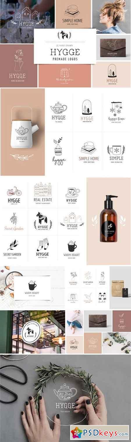 Hygge - premade logo collection 2933007