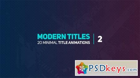 Modern Titles 2 18072432 After Effects Template