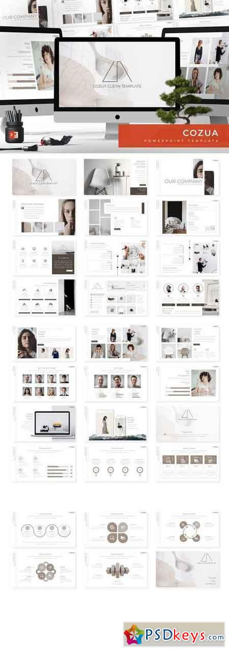 Cozua - Powerpoint, Keynote, Google Sliders Templates