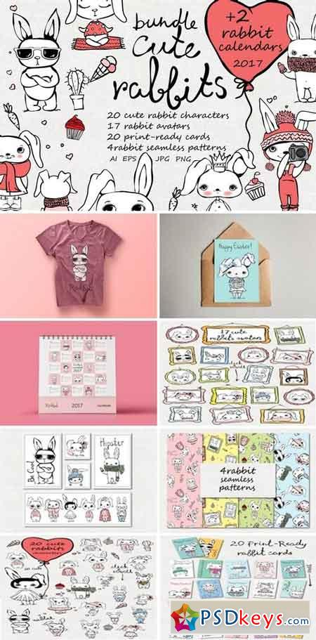 Cute Rabbits collection + Bonus 1069802