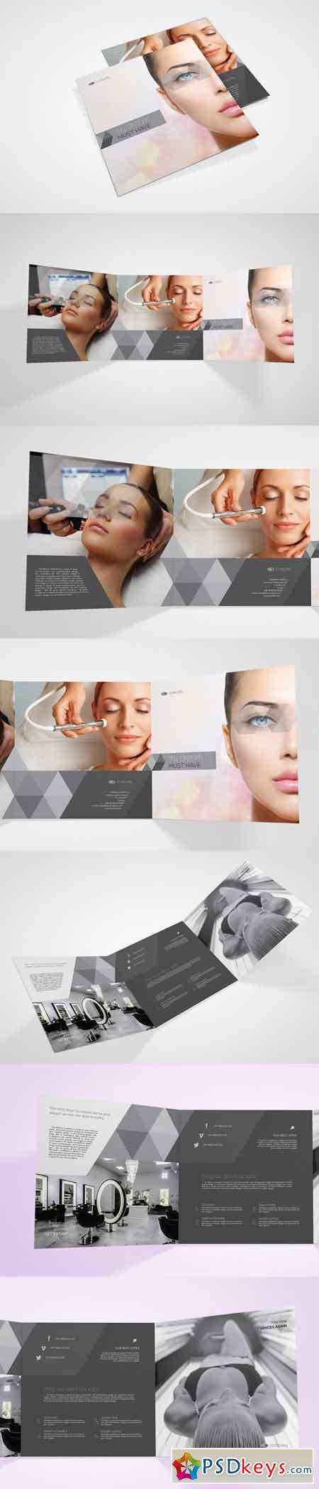 Beauty Salon Square Brochure 2798623