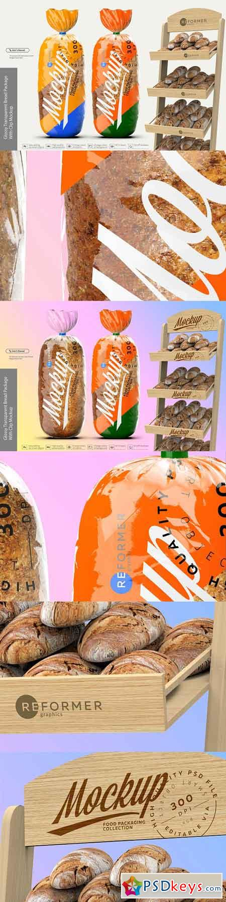 Glossy Transparent Bread Package 2834694