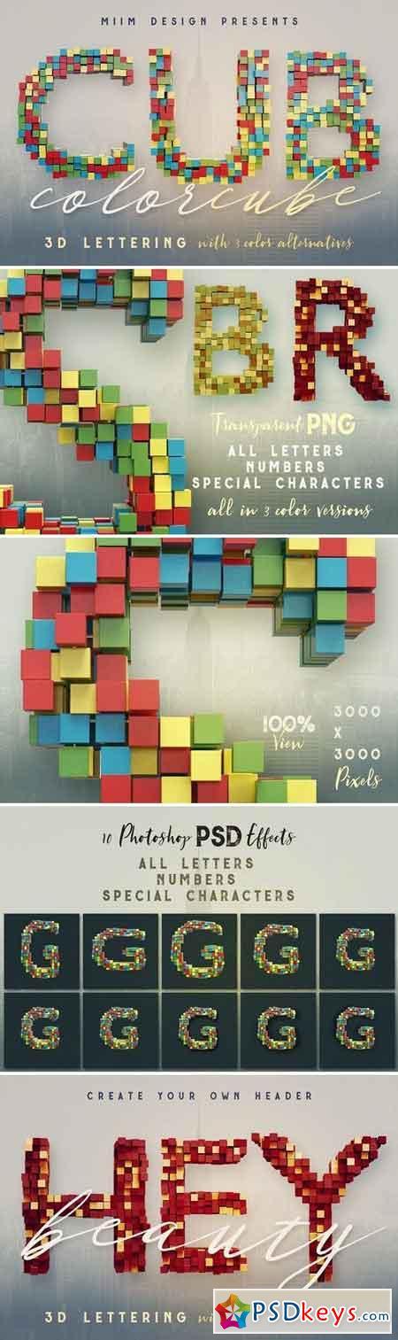 Color Cubes - 3D Lettering 1475223