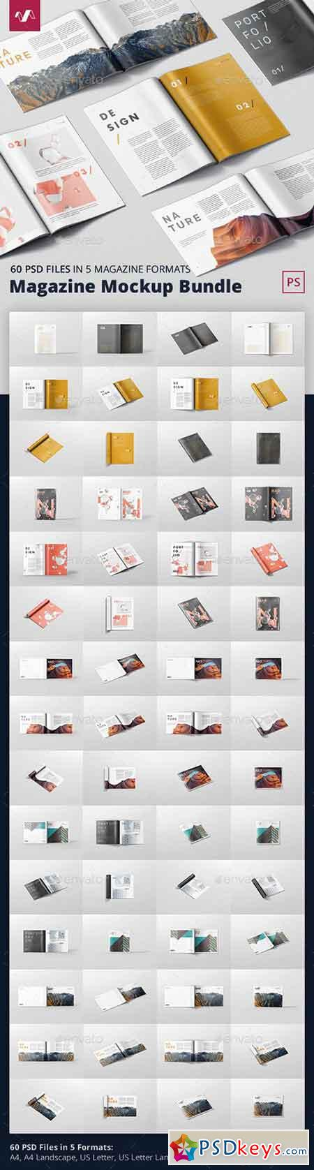 Magazine Mockup Bundle 21361310
