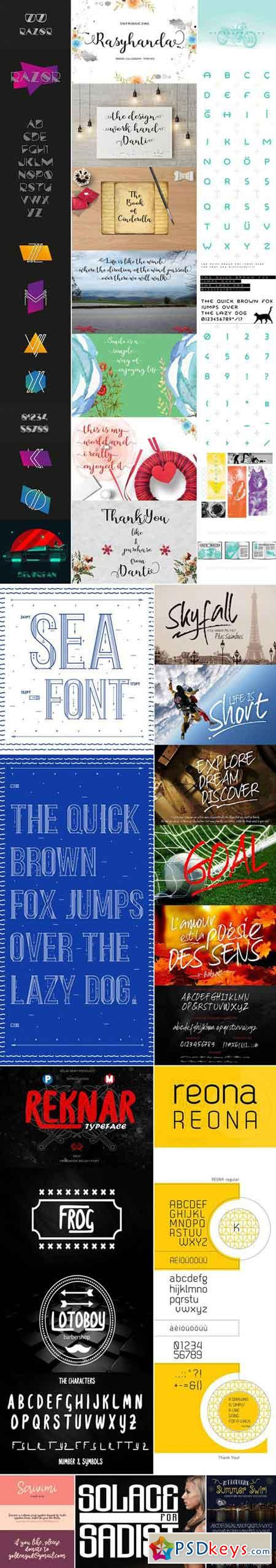 Mix Fonts Bundle 58