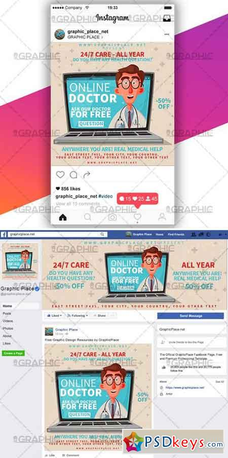 ONLINE DOCTOR – SOCIAL MEDIA ANIMATED PSD TEMPLATE