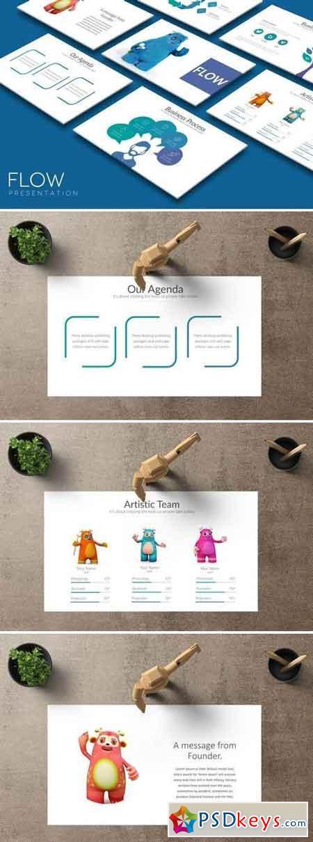 FLOW Powerpoint + Google Slides Template