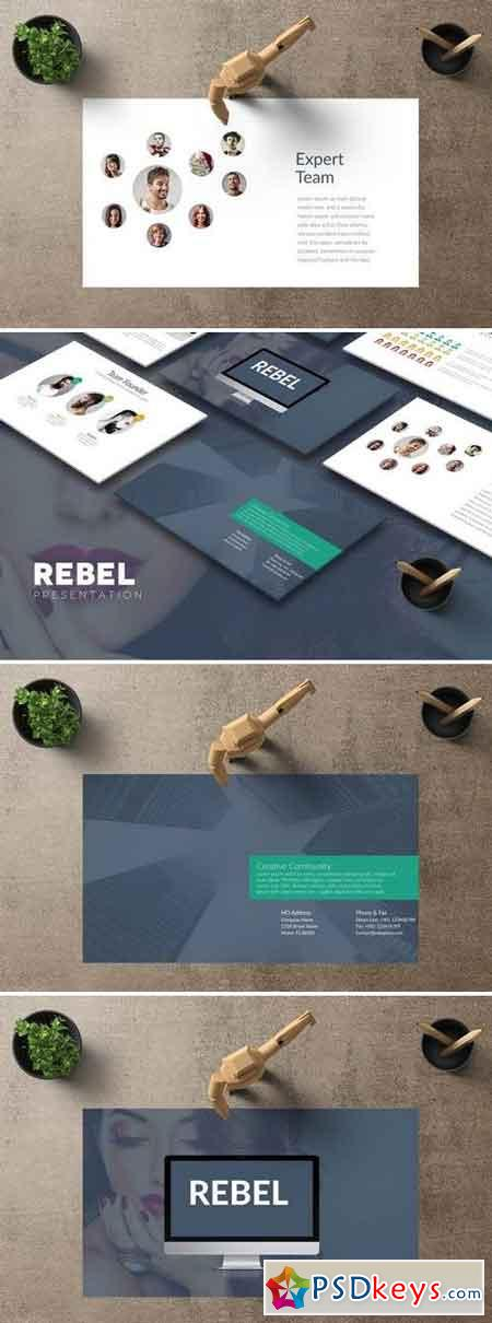 REBEL Powerpoint + Google Slides Template
