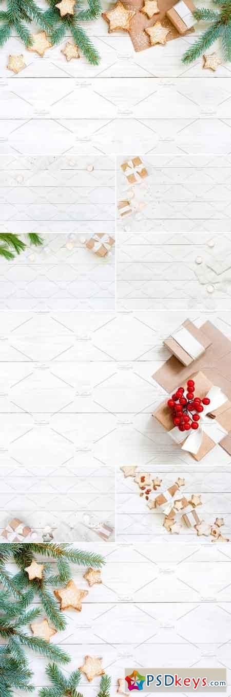 Stock Photos - Holiday Wooden Background