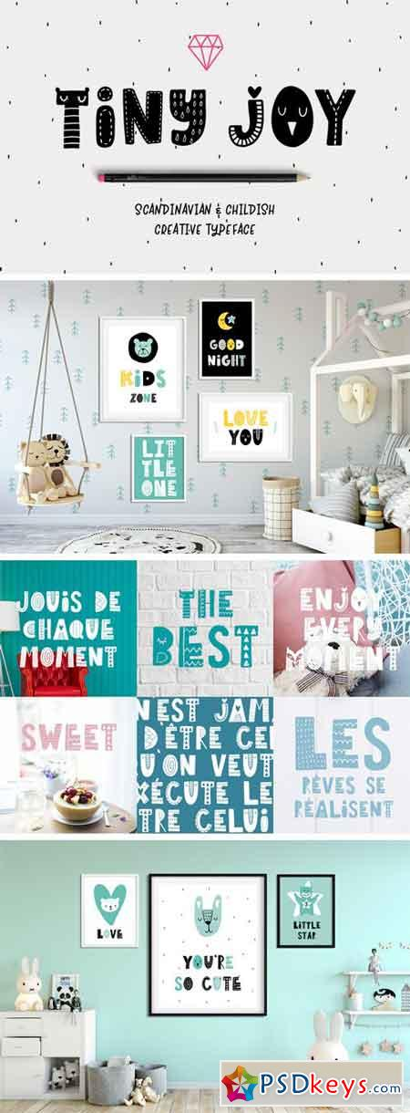 Tiny Joy Font - Scandinavian & Kids 41279