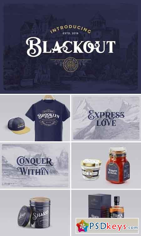 Blackout Typeface 2887481