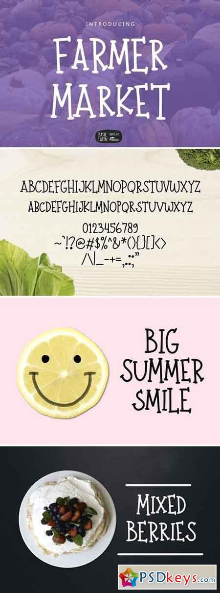 Farmer Market Simple Font 2701687