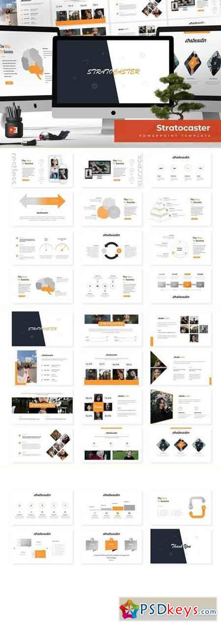 Stratocaster - Powerpoint, Keynote, Google Sliders Templates