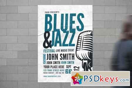 Blues & Jazz Music Flyer