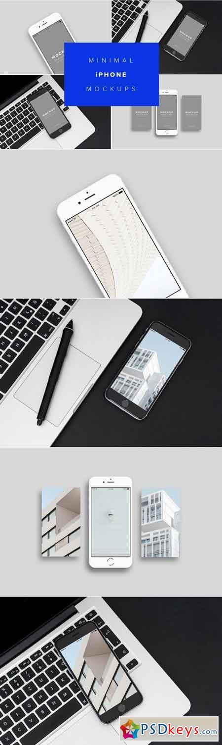 iPhone Mockups Minimal Version 1839383
