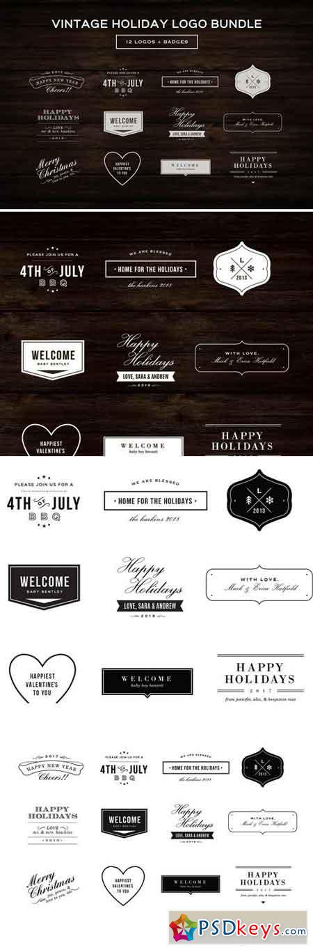 Vintage Logo Bundle 753715