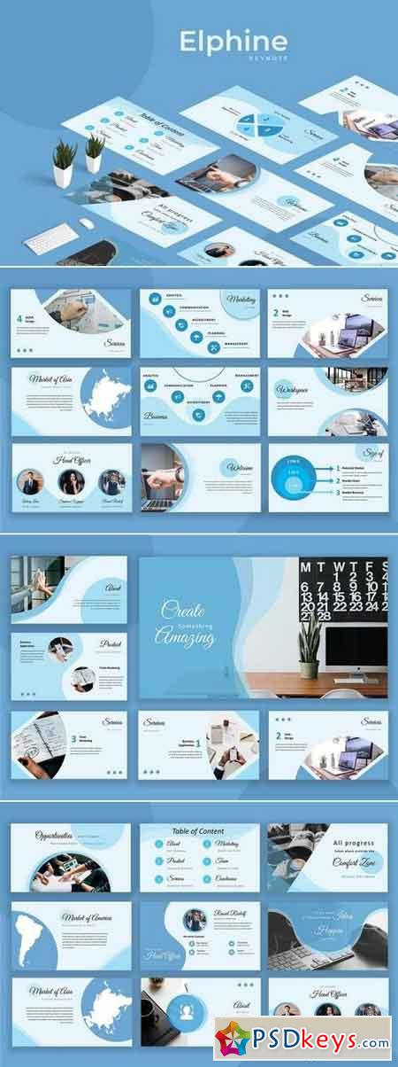Elphine - Powerpoint, Keynote Templates