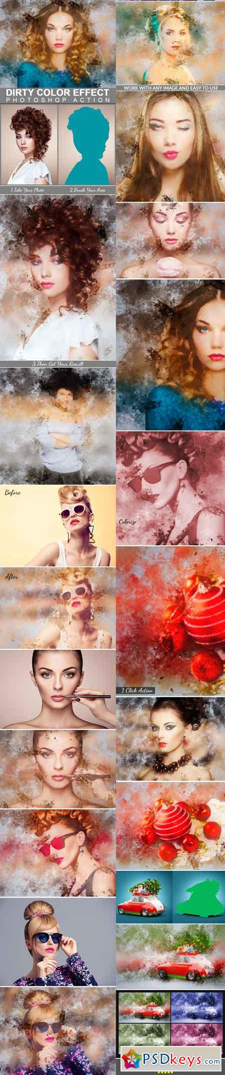 Dirty Color Effect Photoshop Action 22563994