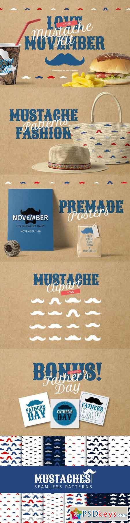 Movember Style Mustache Kit 2857949