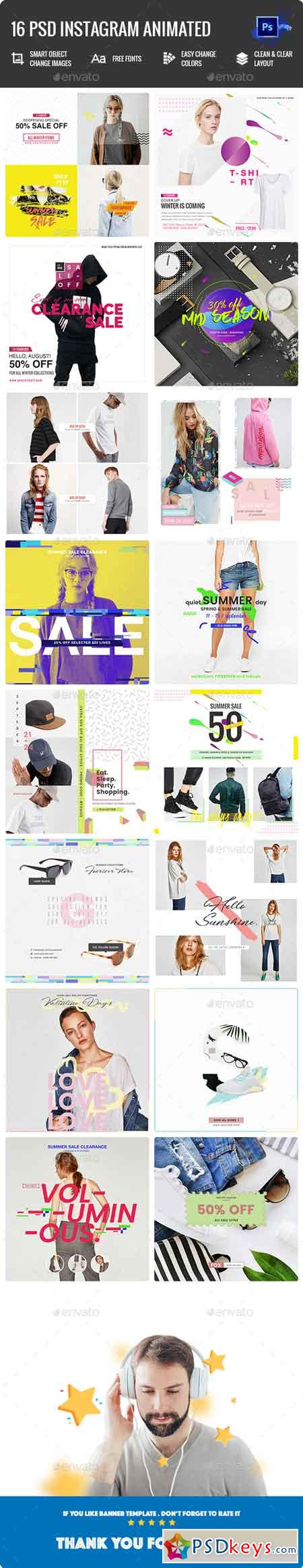 Fashion Instagram Animated Posts - 16 PSD 22540854