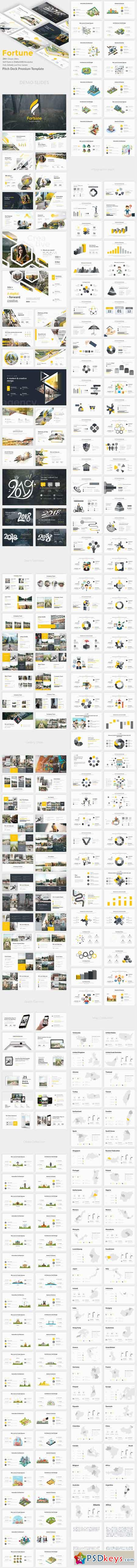 Fortune Premium Pitch Deck Powerpoint Template 22600204