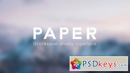 Paper - Grotesque Shady Animated Typeface 16453672 After Effects