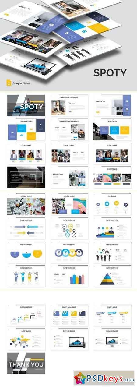 Spoty - Powerpoint Template, Keynote, Google Sliders Templates