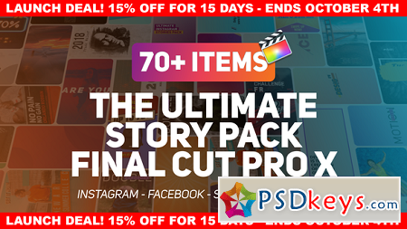 The Ultimate Story Pack - Final Cut Pro X & Apple Motion 22610937 After Effects Templates