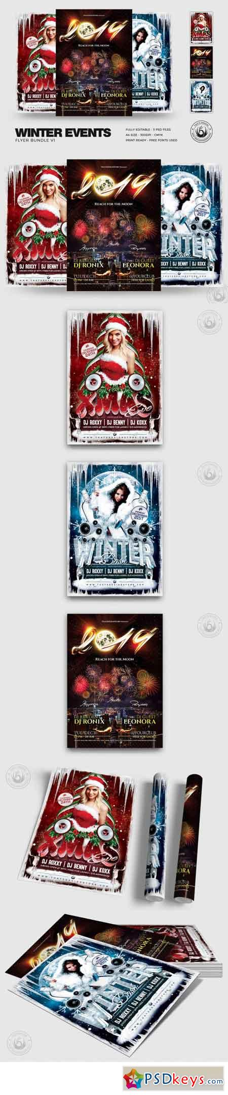 Winter Events Flyer Bundle V1