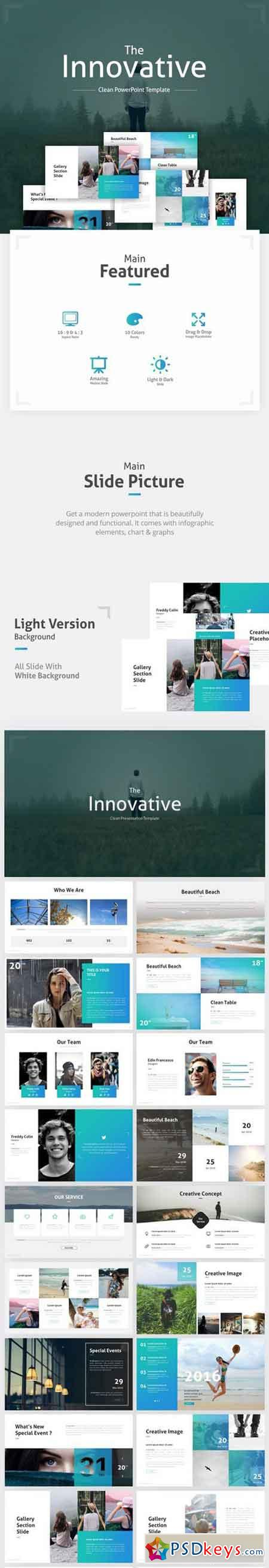 The Innovative Clean Powerpoint Template 19237575