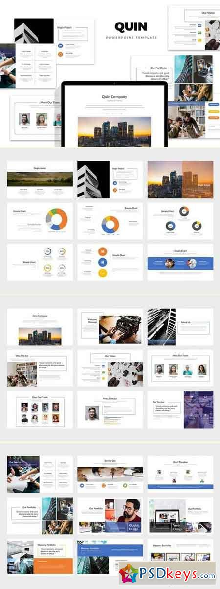 Quin Company Powerpoint Template