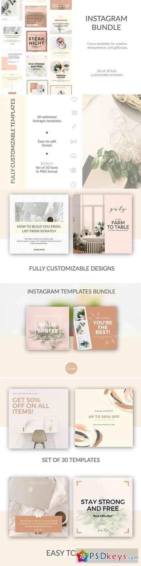 30 Instagram Canva DIY Templates 2977440