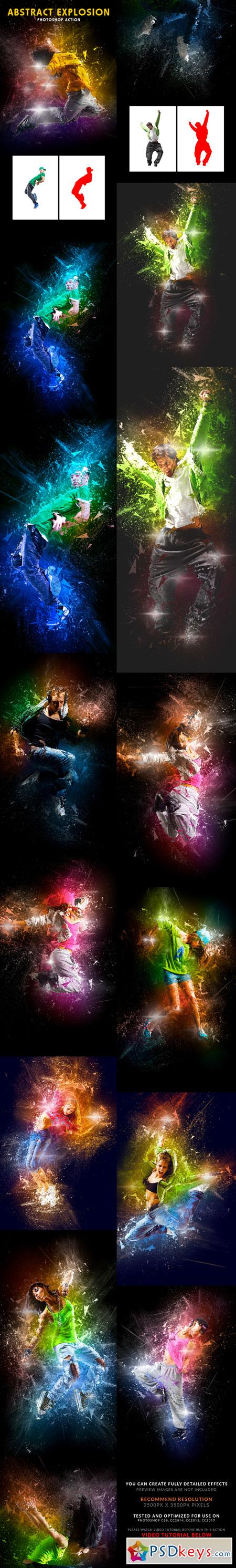 Abstract Explosion Photoshop Action 22572132