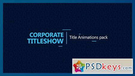 Corporate Titleshow 17362515 After Effects Template