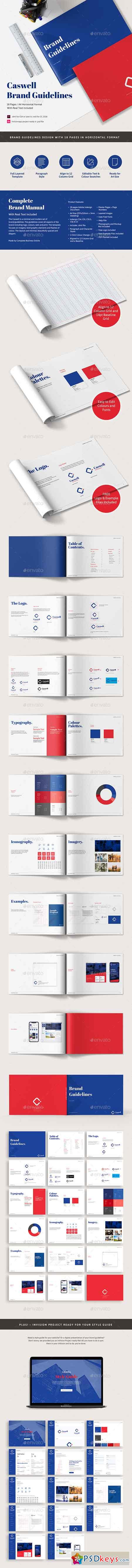Caswell A4 Brand Guidelines Template 22571195