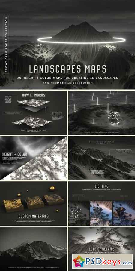 Set of 20 Landscapes maps 2201379