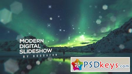 Modern Digital Parallax Slideshow Opener 19883648 After Effects Template