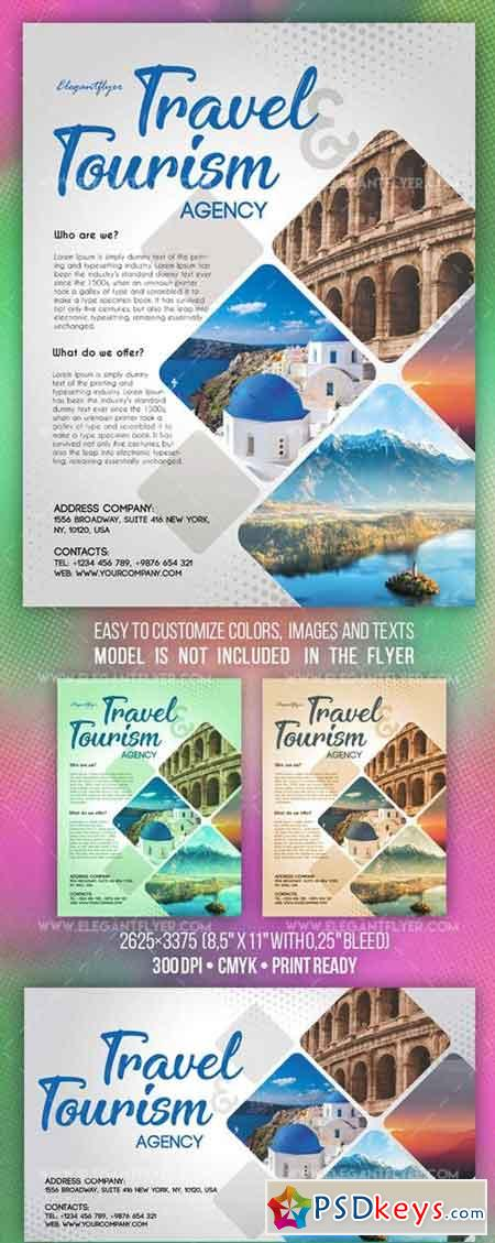 Travel and Tourism V7 2018 Flyer PSD Template