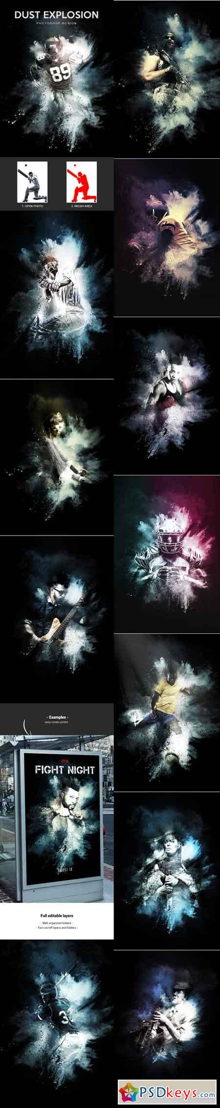Dust Explosion - Photoshop Action 22601864