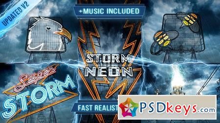 Neon Storm Logo Intro 6812578 After Effects Template