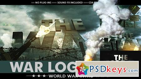 War Logo Opener - Realistic Military Intro 7725040 After Effects Template