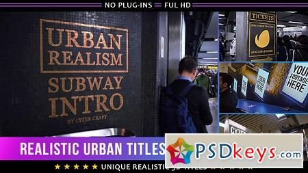 Realistic Urban 3D Titles Intro 19654033 (With 9 July 17) After Effects Template