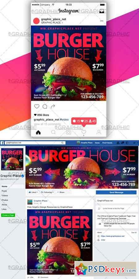BURGER HOUSE – SOCIAL MEDIA VIDEO TEMPLATE