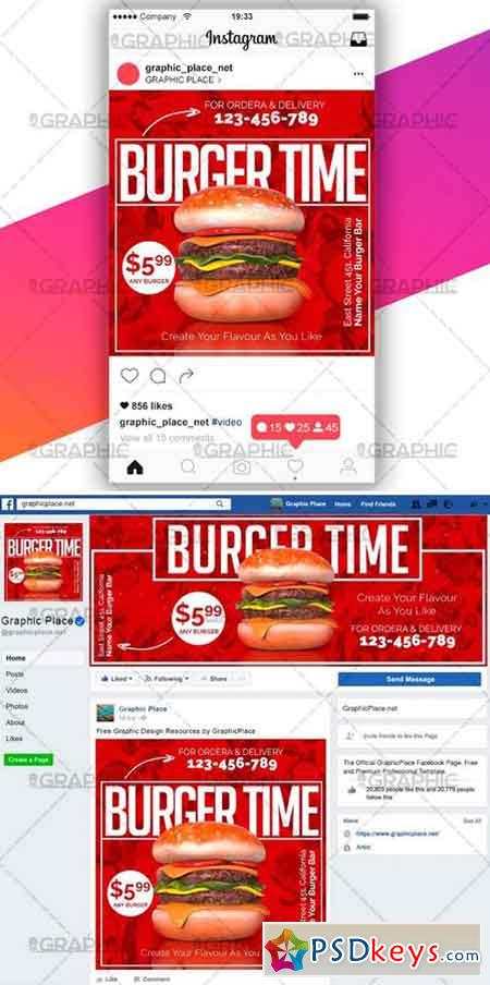 BURGER TIME – SOCIAL MEDIA VIDEO TEMPLATE