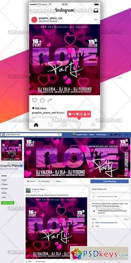LOVE PARTY – SOCIAL MEDIA VIDEO TEMPLATE