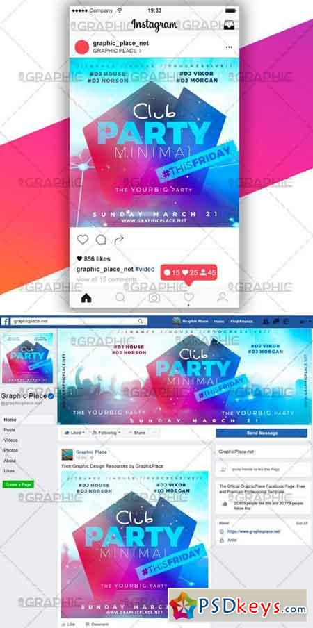MINIMAL CLUB PARTY – SOCIAL MEDIA VIDEO TEMPLATE