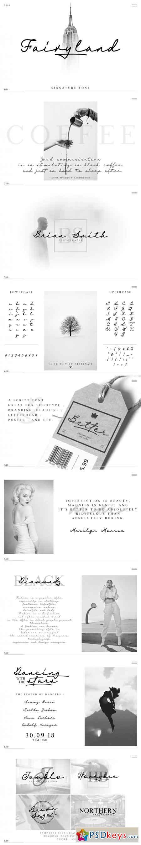 Fairyland - Classy Signature Font