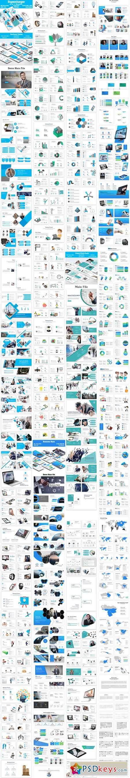 Bundle Business Supercharger 3 in 1 PowerPoint Template 22606019