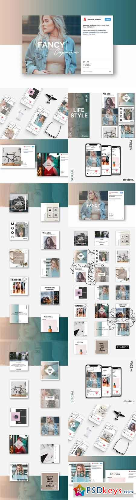 LIFESTYLE Instagram Template Set 3009102