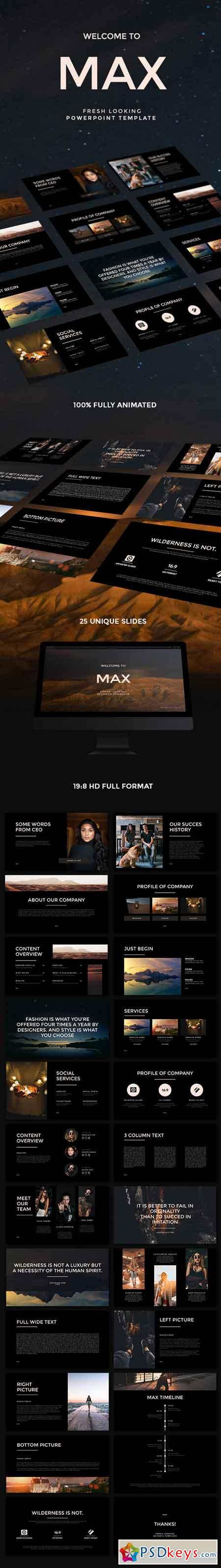 MAX Fresh Looking PowerPoint Template 22606464